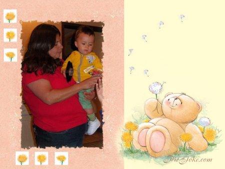 Mi hija lupita y su nieto Emiliano.
