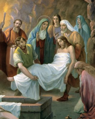 Cristo es sepultado